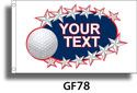 Custom Golf Flag GF78